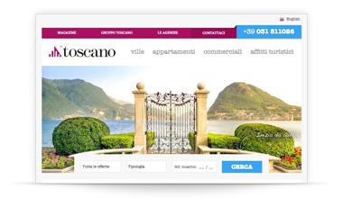 Siti immobiliari realizzati da justimmobili portfolio for Toscano immobiliare como